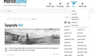 Wordpress Montezuma theme on Safari